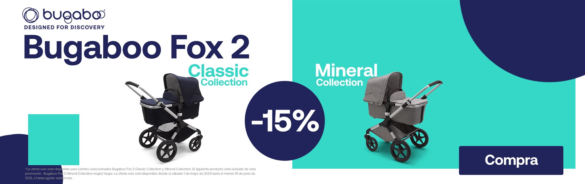 promocion oferta descuento 15% bugaboo fox 2 mineral collection y classic collection