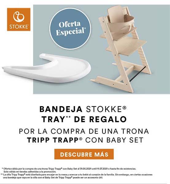 promoción regalo bandeja con la compra de tripp trapp con baby set de stokke
