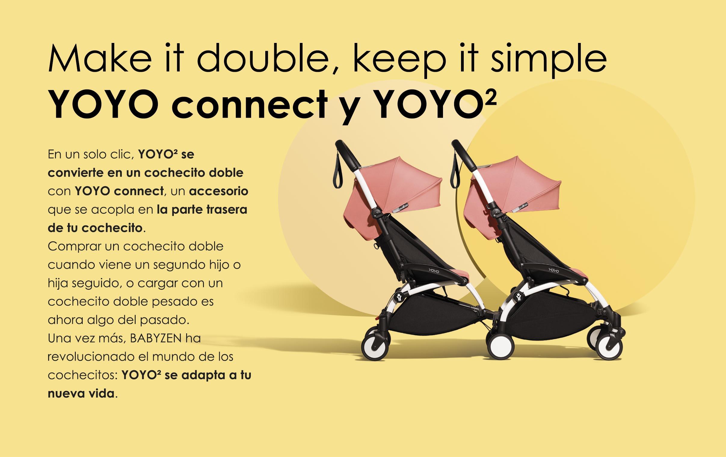 yoyo connect para yoyo 2 de babyzen transforma tu cochecito en un cochecito doble con un solo clic